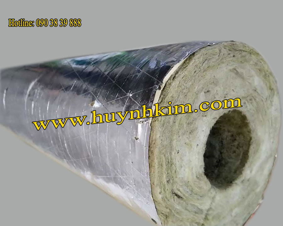 Cách nhiệt Rockwool ống có lớp bạc - CN104